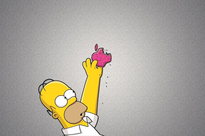 Homer reaching for Apple logo wallpaper, Homer reaching for Apple logo  Computer HD desktop wallpaper