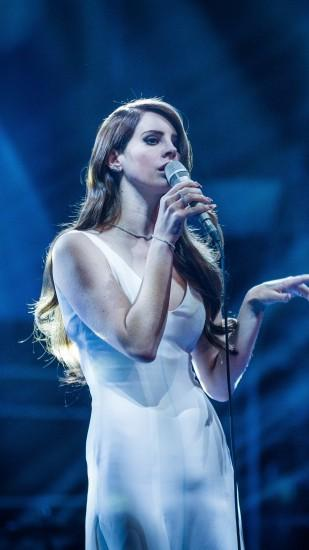 Preview wallpaper lana del rey, singer, performance 1440x2560