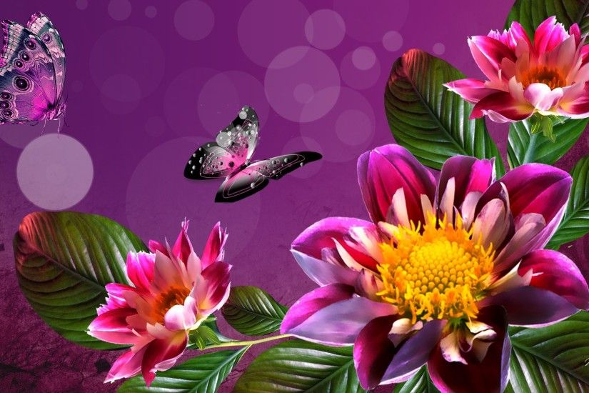 Free Summer Flowers Wallpaper Widescreen Â« Long Wallpapers summer flowers  desktop ...