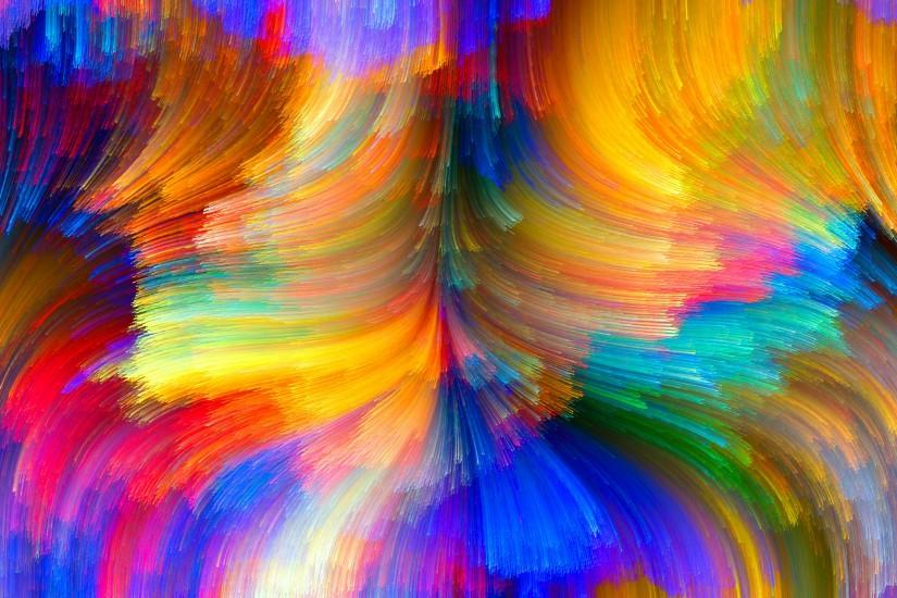 Abstract Bright Color Curves HD Wallpaper
