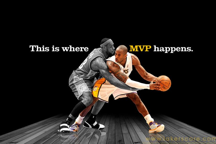 Kobe vs Lebron Wallpaper - Hard to Tell Who is Better