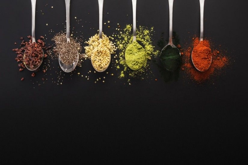Spices, Spoons, Spoons With Spices Wallpapers and Pictures, Photos, Posters  76179