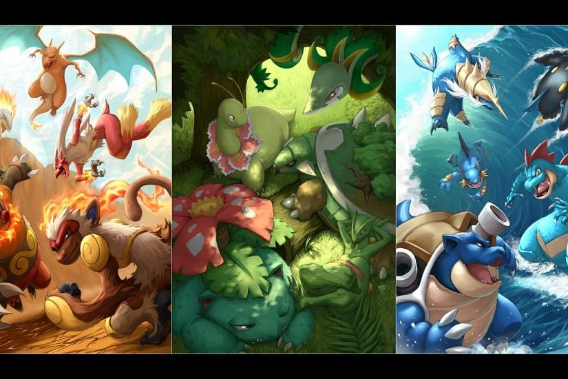 Starter Pokemon | HQ Definition Wallpapers, Backgrounds