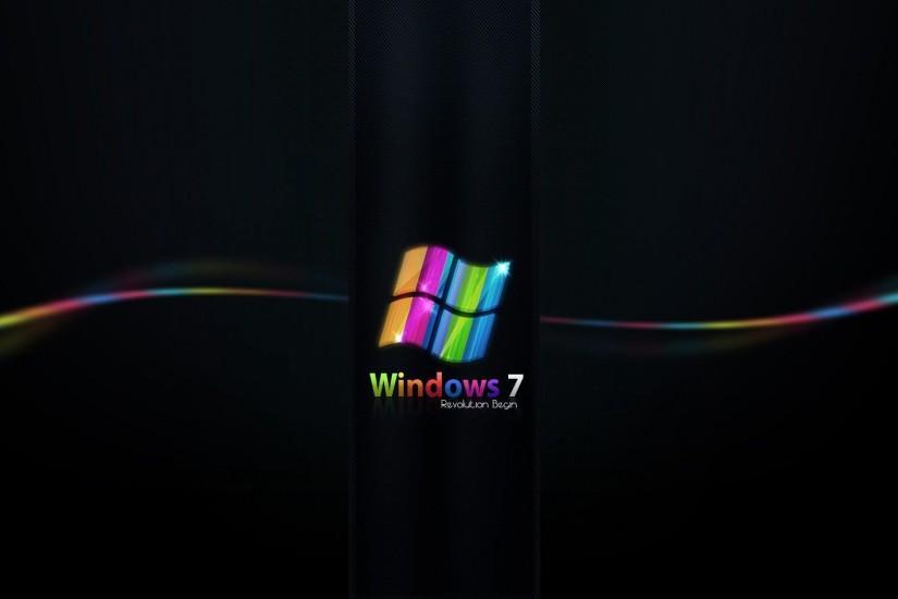 Desktop backgrounds // Computers // Windows 7 // Rainbow free .