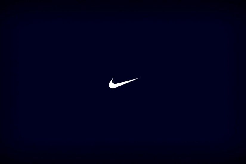 Blue Nike Logo Wallpaper 43982