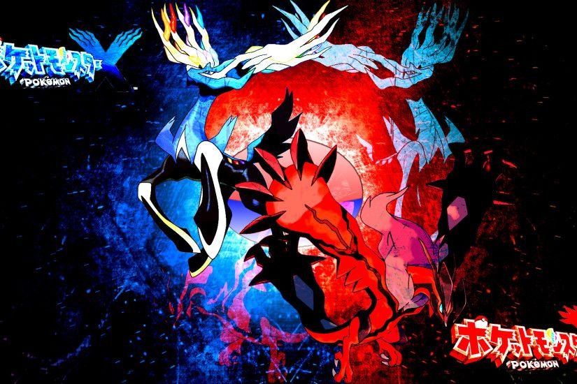 ... Pokemon X and Y: Xerneas and Yveltal by FRUITYNITE