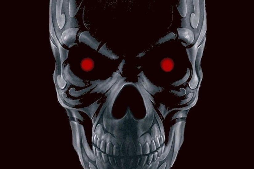 Red-eyed skull wallpaper