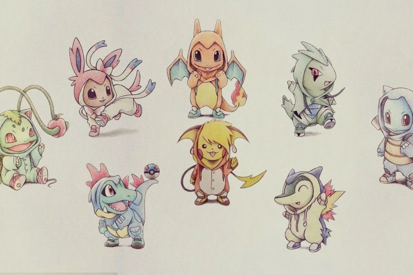 Bulbasaur Charmander Cyndaquil Eevee Larvitar Pikachu Pkemon Squirtle  Totodile