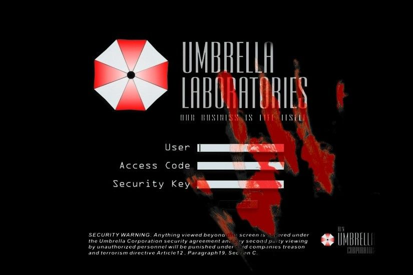 Resident evil umbrella corp 1920x1080 wallpaper