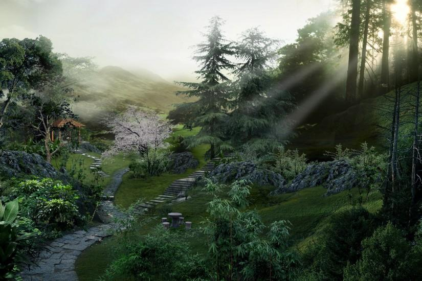 1920x1200 Chinese forest desktop PC and Mac wallpaper