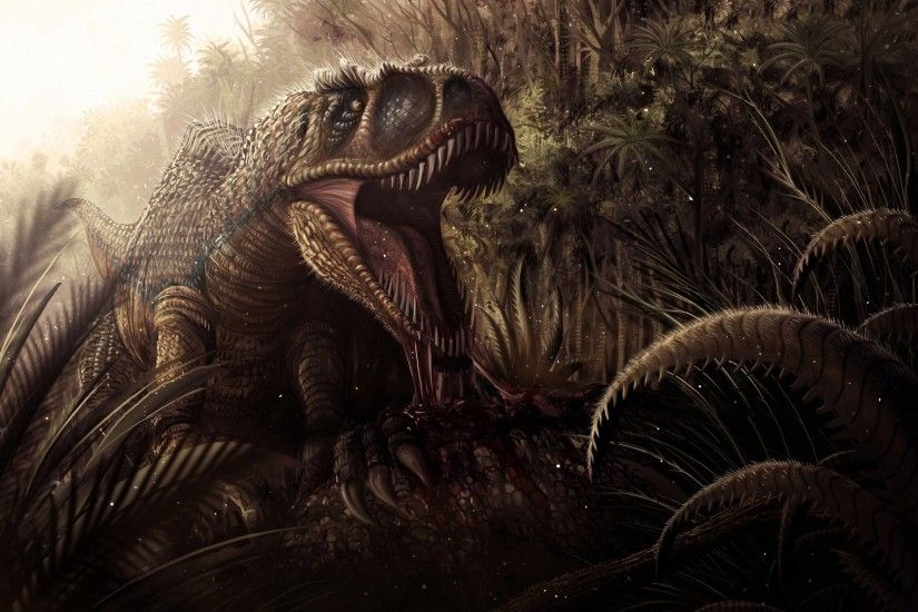 Tyrannosaurus Rex In Jungle HD Wallpapers - High Definition Wallpapers
