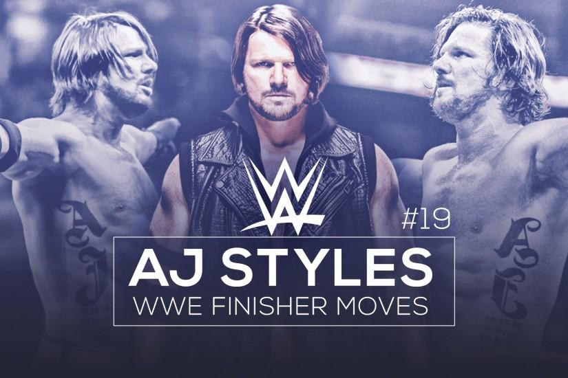... WWE Finisher Moves Thumbnail - AJ Styles by BullCrazyLight