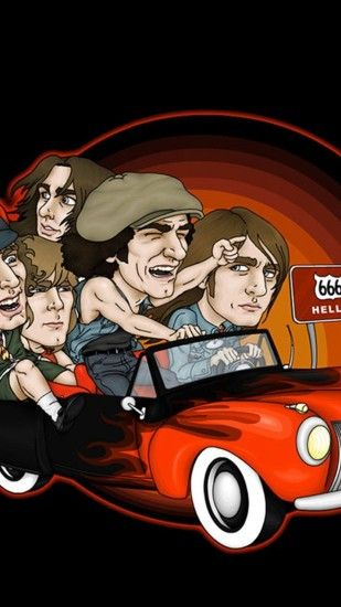 Preview wallpaper acdc, picture, car, direction, sign 1080x1920