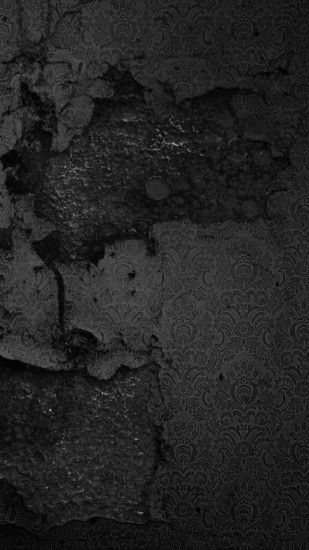 Smashed Black Wall Pattern Android Wallpaper