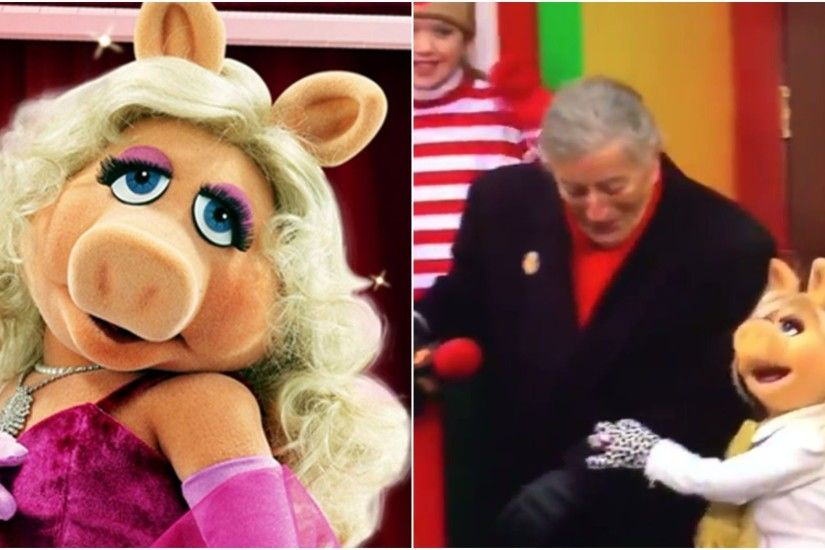 WATCH: Miss Piggy rescues Tony Bennett from falling off parade float |  Metro News