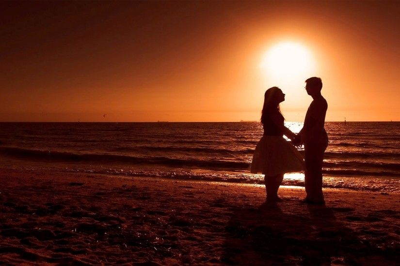Romantic Beach Sunset Wallpapers Background