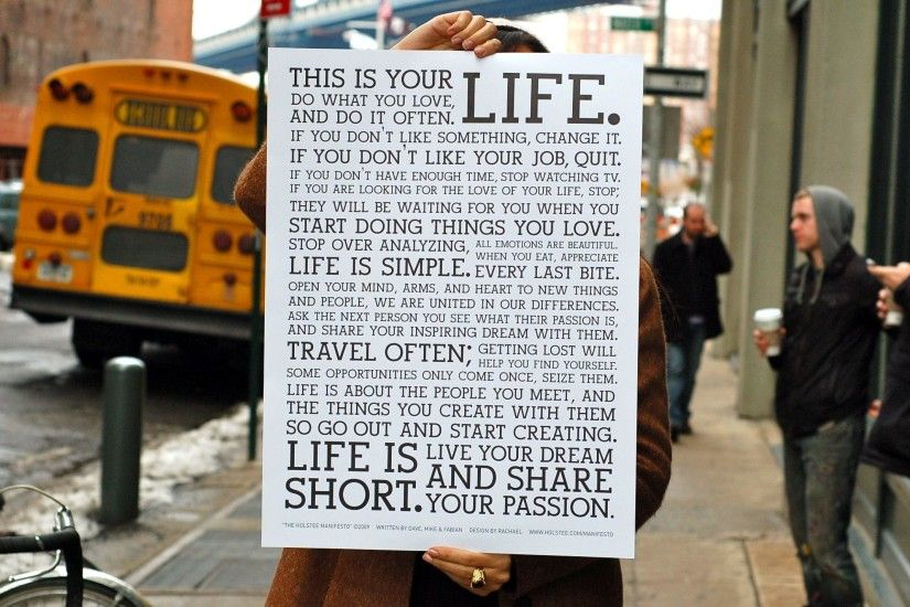 Holstee Manifesto Surprise!