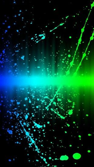 Abstract blue and green neon wallpaper
