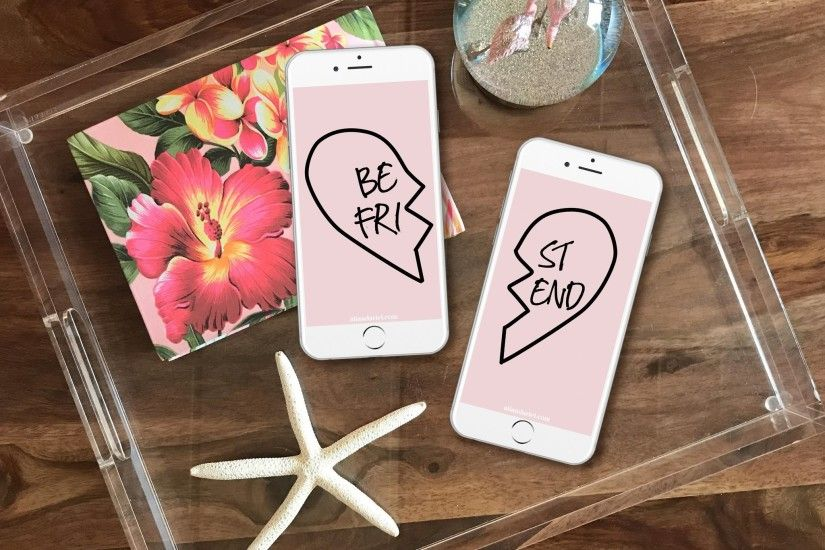 BFF Heart Locket FREE iPhone Wallpaper Download