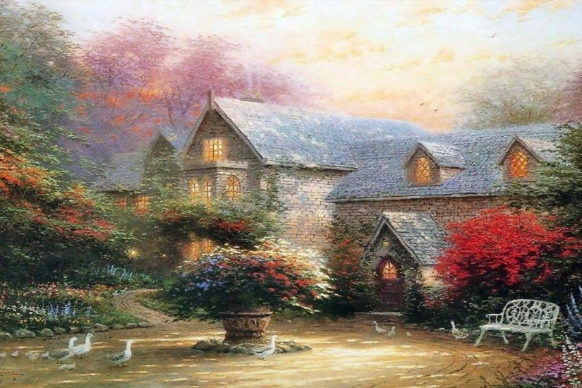 Thomas Kinkade Wallpaper, Paintings, Art, HD, Desktop .