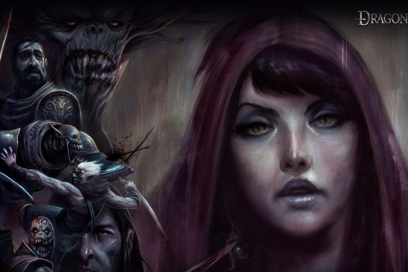 1920x1080 Wallpaper dragon age origins, girl, face, look, monsters