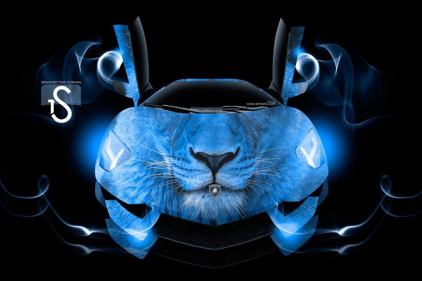 Lamborghini Aventador King Lion Car 2013 Blue