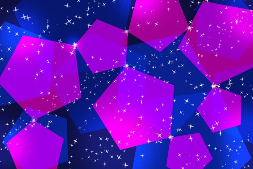 Blue And Pink Pentagons Wallpaper 317379