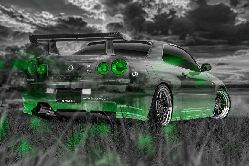... Nissan-Skyline-GTR-R34-JDM-Crystal-Nature-Car- ...