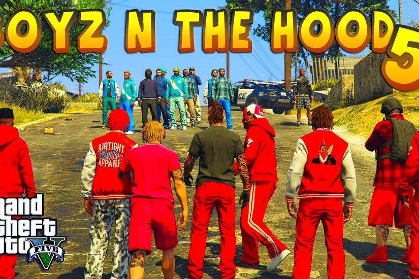 GTA 5 ONLINE - BOYZ N THE HOOD PART 5 | BLOODS VS CRIPS