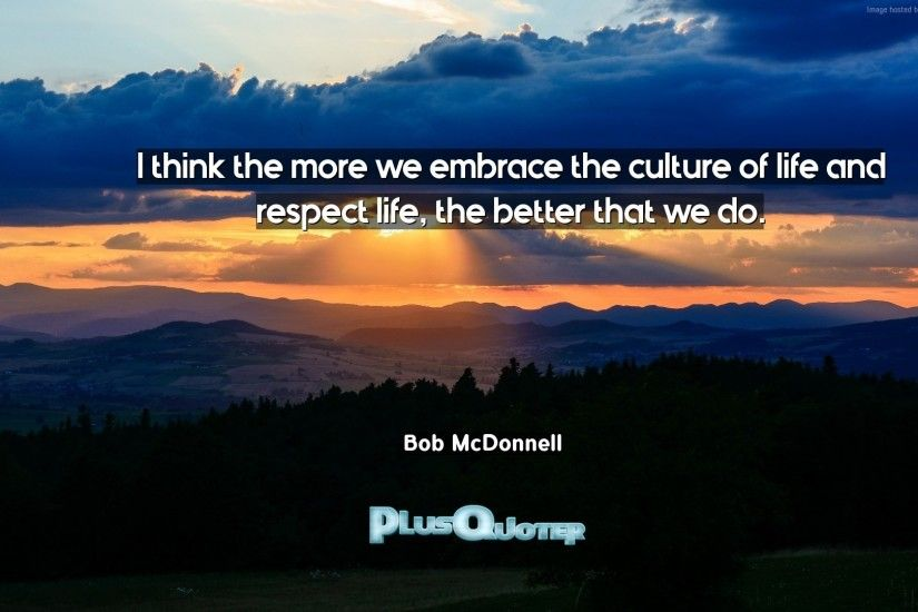 "Download Wallpaper with inspirational Quotes- ""I think the more we embrace  the culture of"