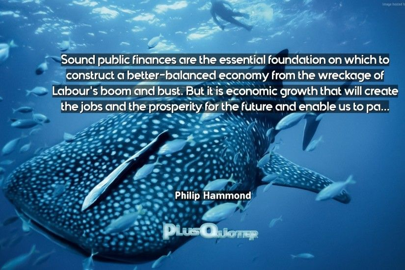 "Download Wallpaper with inspirational Quotes- ""Sound public finances are  the essential foundation on which"