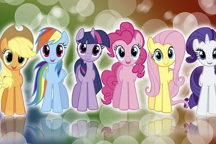 My Little Pony FIM Mane 6 'Colors!' Wallpaper by BlueDragonHans ...