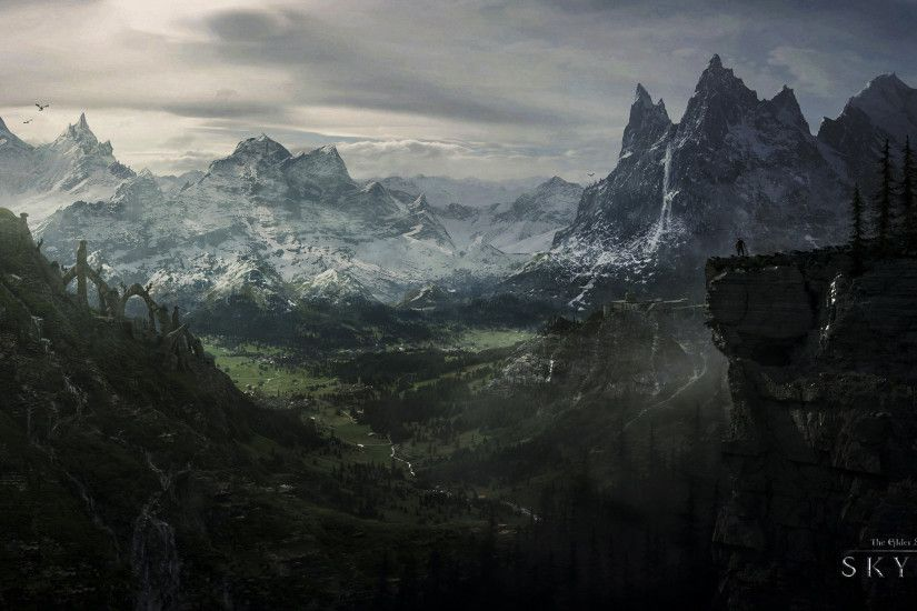 The Elder Scrolls V Skyrim HD Wallpapers Backgrounds | HD Wallpapers |  Pinterest | Skyrim, Wallpaper and Wallpaper backgrounds