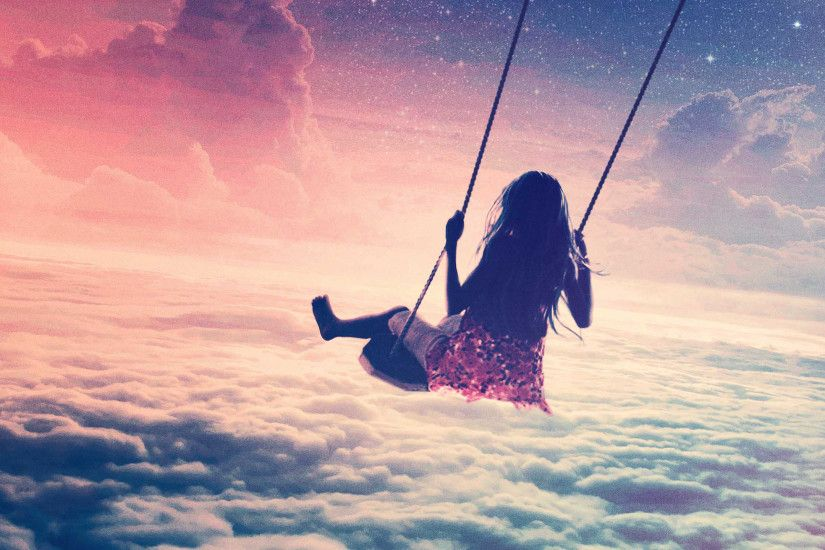 Free Vintage HD Baby Swinging Photography Wallpaper