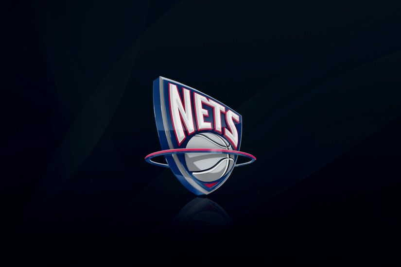 Preview wallpaper new jersey nets, nba, basketball, logo 3840x2160