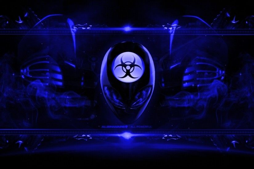 Alienware Desktop Background Radioactive Blue 1920x1080