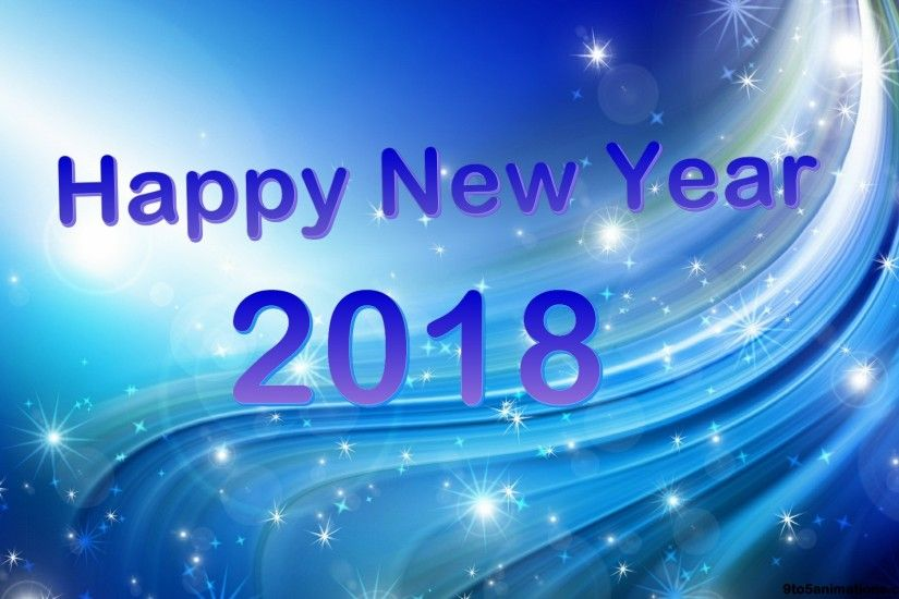 Blue background new year 2018 high definition wallpapers