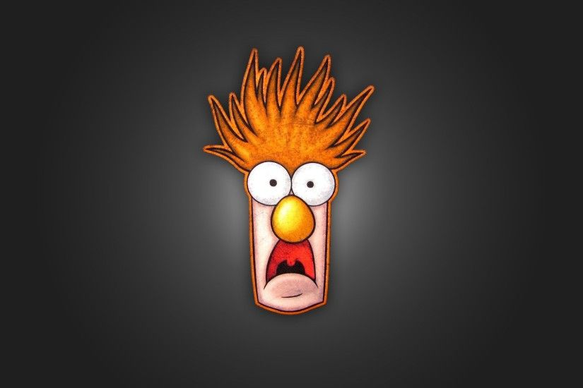 Funny Beaker Muppets Background.