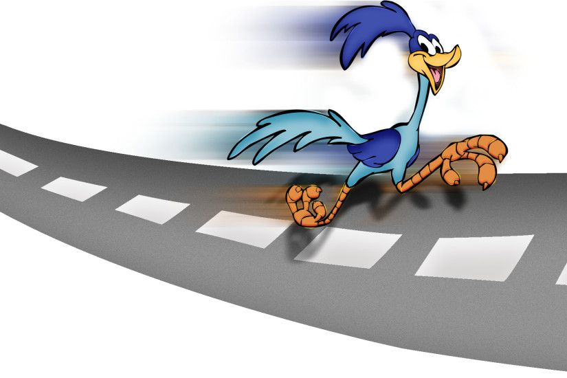 Clipart library: More Artists Like The Road Runner on a road by ksbansal