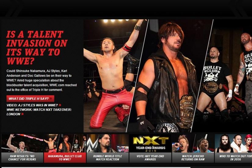 WWE news: New Japan stars AJ Styles, Shinsuke Nakamura and Bullet Club  members are signing, WWE tease | The Independent