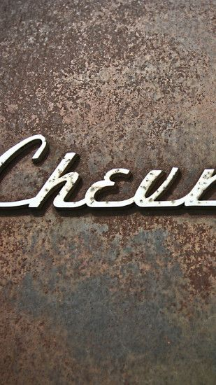 1440x2560 Wallpaper chevrolet, logo, rust