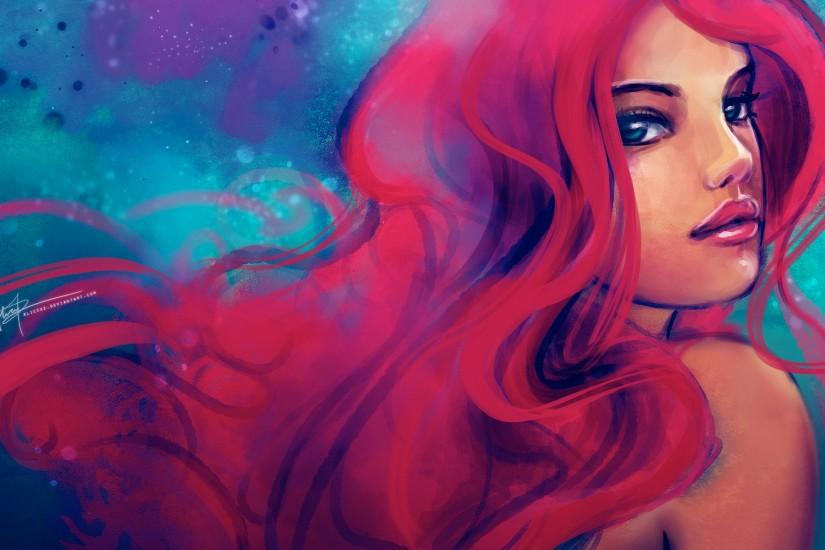 The Little Mermaid Ariel Cartoon HD Background for MacBook