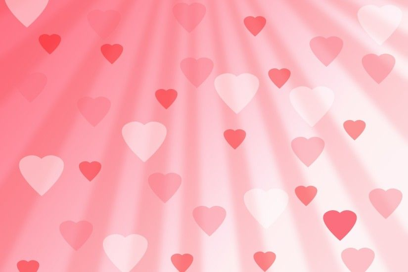 ... Pink Hearts Background ...