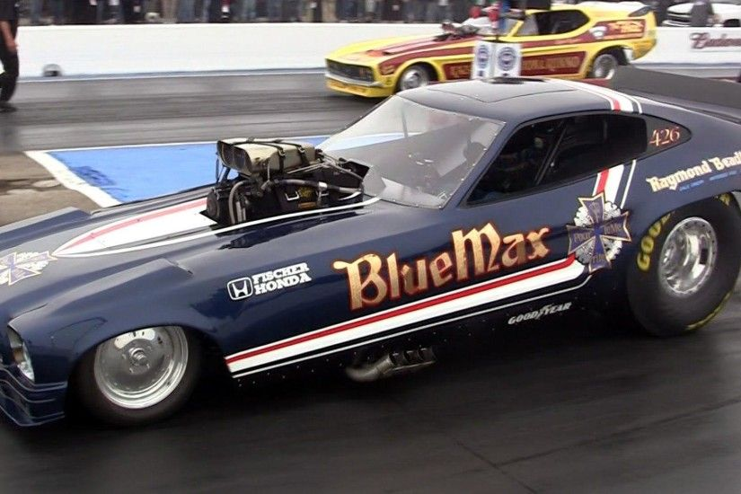 Funnycar funny nhra drag racing race hot rod rods BLUE MAX ford .