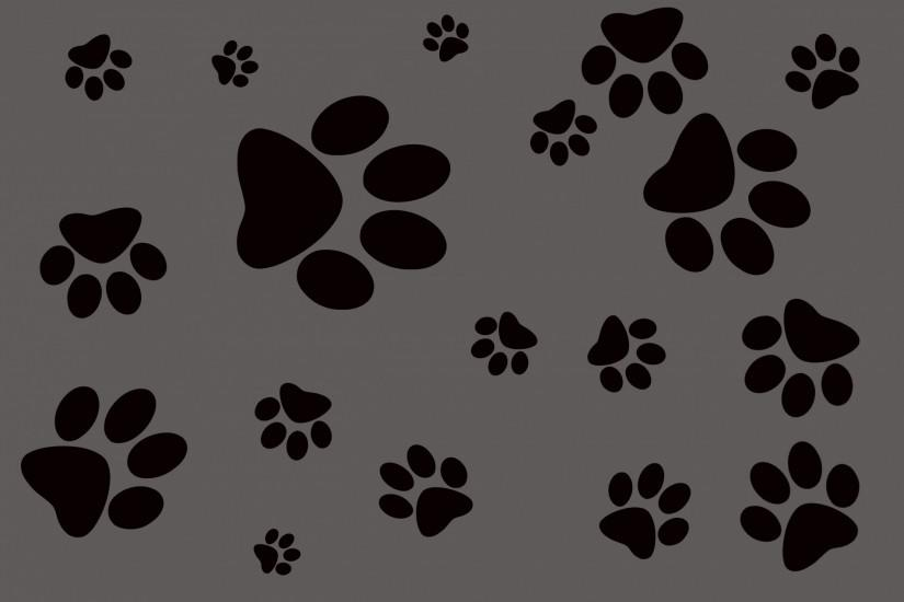 ... Wallpaper Background Dog Footprint