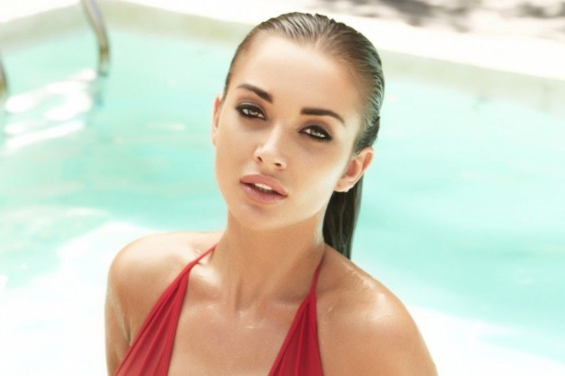 Wallpaper Amy Jackson, Swimsuit, Hot, Bollywood actress, 4K, HD,  Celebrities / Indian, #2429