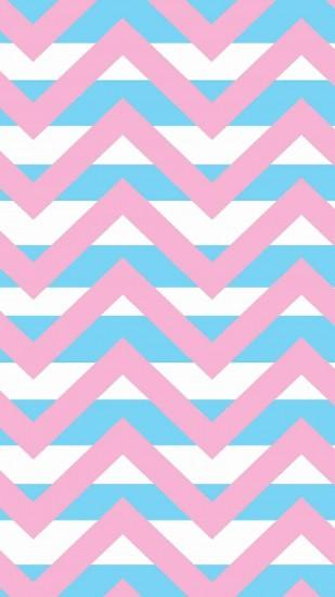 Pastel Chevron Pink and Blue iPhone 6 Plus Wallpaper for Girls - Pretty  Striped Pattern #