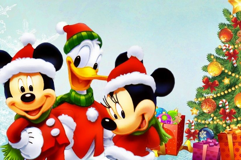 Disney Tree Mickey Presents Duck Donald Christmas Mouse Minnie Gifts Winter  Picture Backgrounds For Desktop - 1920x1080