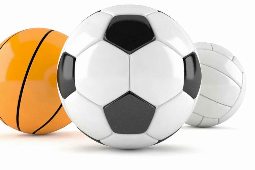 Soccer ball, basketball and volleyball isolated on white background Stock  Video Footage - VideoBlocks