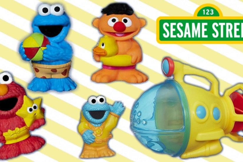 Bath time fun with Ernie, Elmo and Cookie Monster in his submarine! -  YouTube